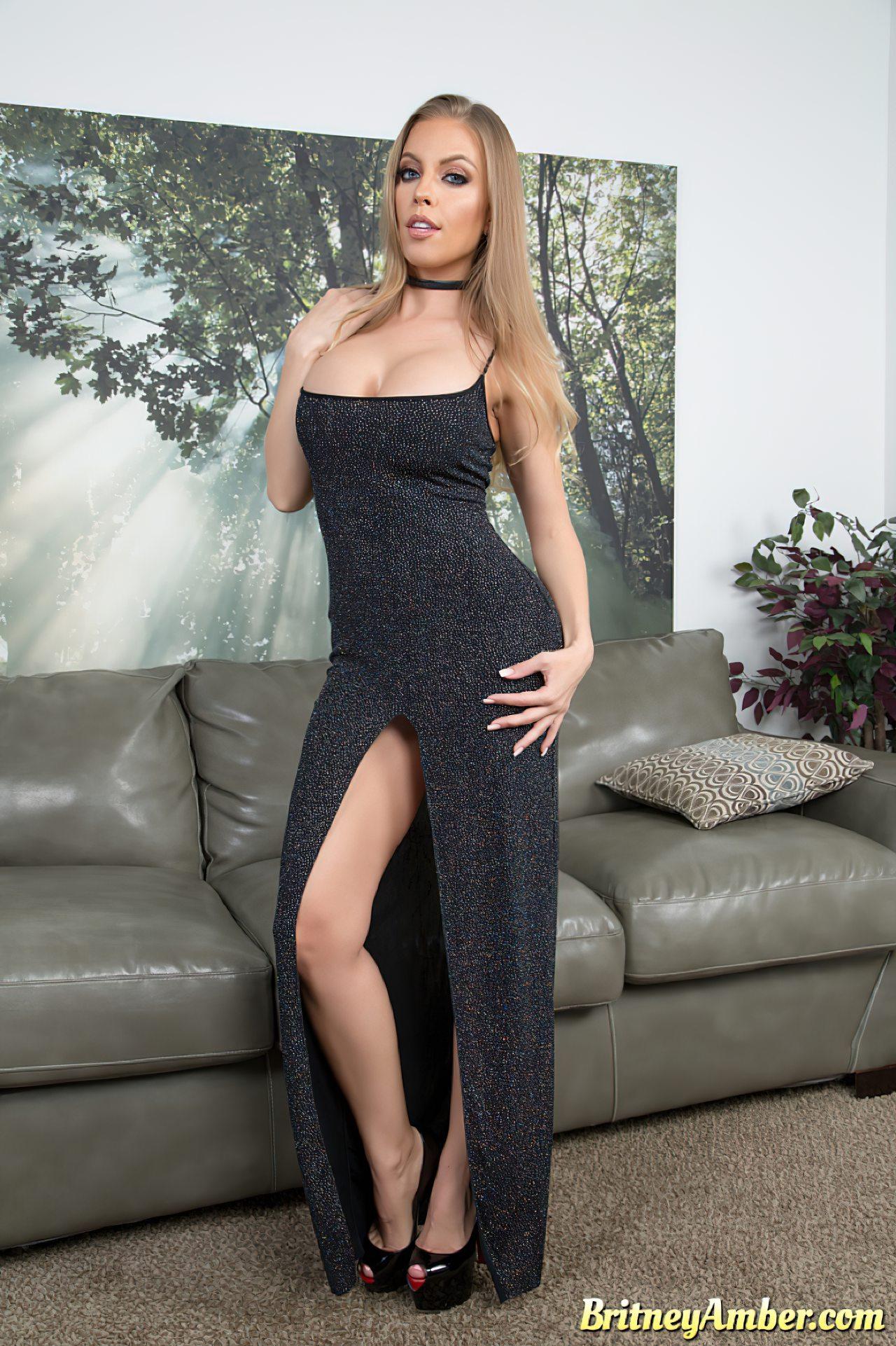 Britney Amber Despe Vestido de Gala (1)